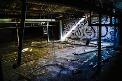 So, today I went bowling. How about yourself? (CameronNorris) Tags: urbexadelaide urbex derelict grungy dark candles bowling scene view chapmans nairne adelaidehills adelaide abandonedadelaide graffiti slaughterhouse abandoned