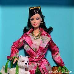 K.S. (morado enamorado) Tags: barbiecollectibles katespade fashiondesigner jewelry accessories younglionsprogram newyork publiclibrary limitededition doll adultcollector barbiecollector barbiecollection mattel toys floralcoat canvastote wickerbasket puppy