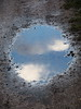 A tribute to Magritte (floribes) Tags: magritte reflection reflets nuage cloud clouds nuages flaque puddle