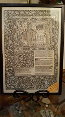 "WILLIAM MORRIS KELMSCOTT CHAUCER PAGE, TWO SIDED FRAME.  $500. • <a style=""font-size:0.8em;"" href=""http://www.flickr.com/photos/51721355@N02/38918432284/"" target=""_blank"">View on Flickr</a>"