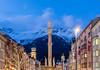 Innsbruck blue hour (Maria_Globetrotter) Tags: 2017 2018 eu europe mariaglobetrotter photography trip dscf0315hdrlr2 austria österreich alps winter snow high mountains
