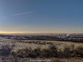Frosty Motherwell Skyline