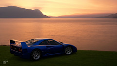 F40 Lake (jandengel) Tags: granturismo gt gts car scapes game ps4 polyphony ferrari f40 lake