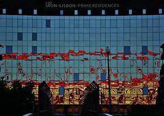 Lisbon - Benfica Colors (nagyistvan8) Tags: nagyistván lisszabon lisbon lisboa portugália portugal portuguese nagyistvan8 extreme special különleges tárgy object épület építészet architect architecture színek colors piros red sárga yellow barna brown surface felület szürke fekete kék blue black grey ngc building szerkezet struktúra structure construction háttérkép background minta sample model részlet detail utazás traveling window ablak homlokzat benfica stadion tükröződés reflection csíkos csík stripe striped vonalak 2017 nikon cof021dmnq cof021mari cof021ally cof021uki cof021amar cof21ettigirbs cof021juli