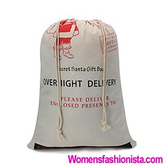 """Christmas Bag Santa Sack Canvas Bag For Gifts Santa Sack Special Delivery Extra Large Size 27.6""""x19.7"""" (White Pattern 4) (womensfashionista) Tags: 276x197 4 bag canvas christmas delivery extra gifts large pattern sack santa size special white"""