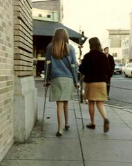 unbraced polio legs 2 (jackcast2015) Tags: handicapped disabledwoman crippledwoman paralysed poliogirl ubracedpoliolegs crutches polio