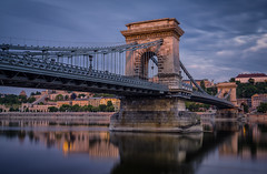 Budapest Bridge (Juhwie_Fotography) Tags: budapest bridge hingary magyar river reflection sky sunrise dawn urban architecture pentax pentaxart ricohimaging k1 cityscape