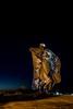 DSC_4684 (Copy) (pandjt) Tags: roadtrip unitedstates usa southdakota chamberlain us dignityofskyearth dignitystatue lewisclarki90infocenter sculpturetrail nightphotography sculpture statue lakota dakota stainlesssteel steelsculpture starquilt dalelamphere bigdipper usramajor