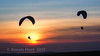 Sunset paragliders at Devils Dyke #1 (Dennis in Shoreham-by-Sea ( LRPS )) Tags: hanggliders devilsdyke