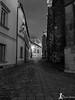 Narrow and dark aisle near Petrov (martin.smolak) Tags: aisle dark petrov temple brno nightphoto bw building katedrála cathedral sv petr pavel neogothic style novogotický styl monochrome road