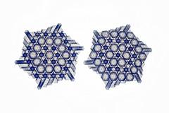 Duo 1 (Marjan Smeijsters) (De Rode Olifant) Tags: marjansmeijsters duo1 duo1backlit tessellation origami pattern paper hexagon triangle paperfolding