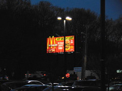 McDonald's (Milford, Connecticut) (jjbers) Tags: connecticut february 3 2018 milford mcdonalds bill board sign fast food night