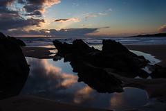 Le Pouldu (Faouic) Tags: france bretagne finistère lepouldu bellangenet plage coucherdesoleil reflet réflection rocher