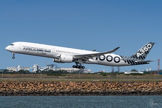 F-WLXV Airbus Industrie Airbus A350-1041 34L Sydney Airport SYD/YSSY 12/2/2018.