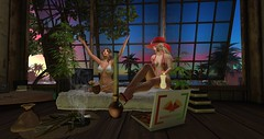 Splash Story Entry # 1 - Roxy9999 (Roxy River) Tags: second life avatar drugs alcohol partying secondlife sunset