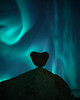Valentines rock (Jay Daley) Tags: nightphotography norway rock valentine'sday borealis aurora