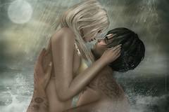 PAM & TOMMY (TommiBayn) Tags: secondlife dreamy erotic sl ethereal fantasy rain water ocean sea moon waves splashes romantic pam astonia