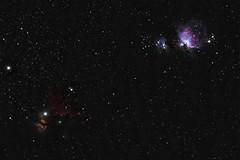 Horsehead Nebula and Flame Nebula together with Orion Nebula, Mairan's Nebula and Running Man Nebula (mfavk) Tags: horsehead nebula flame stars star universe color long exposure 300mm 150600mm nikon d3300 sigma deepspace orion alnitak dark deep space netherlands night sky tracker stack bernard 33 ldn 1630 ngc 2024 sh2277 m42 1976 sh2281 running man sh2279 19777375 mairans m43 1982 adventurer watcher astrometrydotnet:id=nova2438336 astrometrydotnet:status=solved