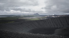Hverfjall, Iceland (phil.intlekofer) Tags: traveldestinations traveling nature panoramic nopeople volcaniclandscape ash circle famousplace geology hverfjall iceland krafla land landscape mountain myvatn north northeasticeland stone tuff uncultivated volcaniccrater volcano
