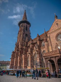 Der Münsterplatz in Freiburg