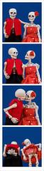 January photobooth! (EatMyBones) Tags: poseskeleton skeleton miniature photobooth toyphotography figurine
