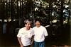 2015.165.001b - Photos of Heidi Iamoka and Irene at Japanese Cemetery. (Cumberland Museum) Tags: iamoka japanesecemetery cumberland cumberlandmuseum comoxvalley vancouverisland britishcolumbia 1991