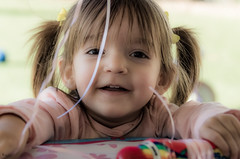 Happy 2nd Birthday (Kevin MG) Tags: kid kids child children childhood birthday girl girls cute pretty little toddler 2yo young youth glow soft smile pigtails outdoor daytime granddaughter grandchild family