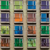 16 colorful windows (laga2001) Tags: colorful colored multicolor square architecture windows lines simple composition reflection bilbao spain hotel facade green yellow orange blue purple tones building