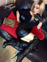 Leathered (jessicajane9) Tags: tg crossdresser transvestite lgbt tgurl cd tranny crossdress transgender feminization xdress travesti crossdressing tv m2f tgirl trans leather boots