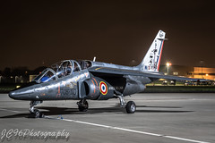 French Air force Alpha Jet at RAF Northolt Nightshoot October 2017 (JC96 Photography) Tags: armee de lair alpha jet training aircraft nigh shoot france tripod aviation canon photography uk avgeek plane