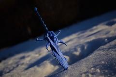 Frostmourne hungers! (Nikita Vasiliev) Tags: origami origamiart paper paperart sword frostmourne arthas arthasmenethil lichking lich wow worldofwarcraft