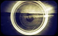 Wide rings (batuda) Tags: spin solargraphy solarigraphy solarigrafia pinhole obscura stenope lochkamera analog analogue tin altoids 6x9 mediumformat paper kodak polymax d76 11 color colour fan circle sun path trail track solarpath wide wideangle landscape cityscape town city tree trees river water nemunas šančiai kaunas lithuania lietuva solargraph neodymium