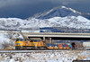 The Snowy Wasatch (jamesbelmont) Tags: unionpacific kg3lb saltlakecity utah railway emd sd70ace ge es44ac containers interstate215