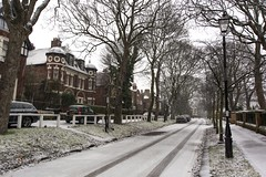 Westoe Village in the Snow. (Mark240590) Tags: old coachlight victorianarchitecture victorian winterwonderland winter nikon snow