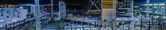 warriors / chase arena panorama (pbo31) Tags: sanfrancisco california nikon d810 color night dark black urban january winter 2018 boury pbo31 city missionbay 3rd street over view construction nba chasecenter arena warriors basketball sport goldenstate crane blue panorama large stitched panoramic frame steel