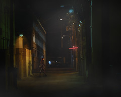 Downtown Alley (johnsinclair8888) Tags: alley lasvegas downtown composite nikon affinityphoto johndavis night neon shadow art d750 street pretty sliderssunday