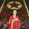 Polaroid of a woman posing in front of a red star made of Kimjongilia flowers during the international Kimilsungia and Kimjongilia festival, Pyongan Province, Pyongyang, North Korea (Eric Lafforgue) Tags: 31 adult anniversary asia asianethnicity begonia chosonot commemoration communism decoration dictatorship dprk exhibition festivalkimilsungia festivalkimjongilia flowers hanbok indoors joseonoth kimilsungia kimilsungiaexhibition kimilsungiafestival kimjongilia kimjongiliaexhibition kimjongiliafestival koreanculture lookingatcamera northkorea oneperson onewomanonly onlywomen portrait propaganda pyongyang squarepicture woman women pyonganprovince 北朝鮮 북한 朝鮮民主主義人民共和国 조선 coreadelnorte coréedunord coréiadonorte coreiadonorte 조선민주주의인민공화국 เกาหลีเหนือ קוריאההצפונית koreapółnocna koreautara kuzeykore nordkorea північнакорея севернакореја севернакорея severníkorea βόρειακορέα