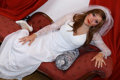 Who doesn't want to be a bride for the day? (Paula Chester) Tags: tg ts tv cd crossdresser crossdressing trannie tranny ladyboy wedding bride shemale