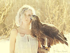 (Cristina Laugero) Tags: hawk aquila blond bionda lady portrait ritratto foresta forest wood winter