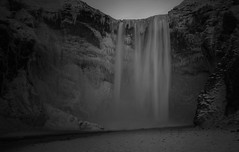 (Tom Roadcap) Tags: waterfall fall ice snow long exposure landscape iceland winter dead quiet peaceful bw snowy icy dark moody