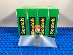 2018-031 - Scotch Tape Day (Steve Schar) Tags: 2018 wisconsin sunprairie iphone iphone6s project365 lego minifigure arthurweasley muggle tape scotchtape scotchtapeday wizard