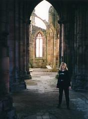 Melrose Abbey, Melrose, Scotland (twm1340) Tags: melrose abbey scotland borders margie roxburghshire canon eos elaniie 35mm film scan scanned 2001 uk unitedkingdom