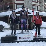 Kimberley Ladies' Super-G U19 Podium - 1st Katrina Van Soest BAR;  2nd Kristina Natalenko BCST
