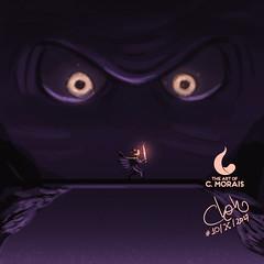 Inktober Day 10, 'Eyes Known' (Cleon Morais) Tags: adventure beast boss gigantic rpg warrior day10 inktober artwork creature digitalart digitalpainting girlpower illustration inktober2017