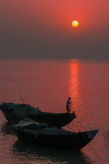 Morning breaks poetically (Riddhish Chakraborty) Tags: rural india bengal sunrise boat fisherman outdoorsphotography