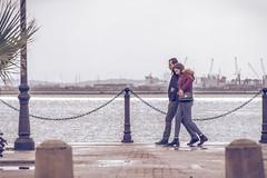 Lack of Tunis (Mashhour Halawani) Tags: lac lake couple love winter rain sea mediterranean cozy