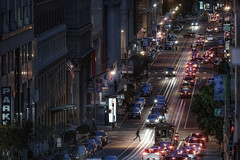 California  St (karinavera) Tags: city night photography urban ilcea7m2 people sanfrancisco street