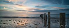 2017 - 12-28 - Widescreen - Moana - Sunset 05.jpg (stevenlazar) Tags: pylons beach ocean sunset australia colour water moana waves jettyruins adelaide 2017 southaustralia clouds