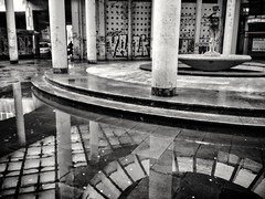 Columns and Reflections #2   /   Stubovi i odrazi #2 (valter.fuego) Tags: columns architecture reflection urban phonecamera blackandwhite street belgrade