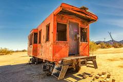 Let's Be Better Humans (KPortin) Tags: desertcenter graffiti traincar abandoned hss california